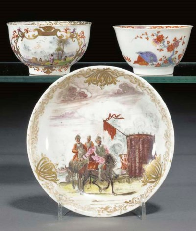 A Meissen Kakiemon teabowl, an