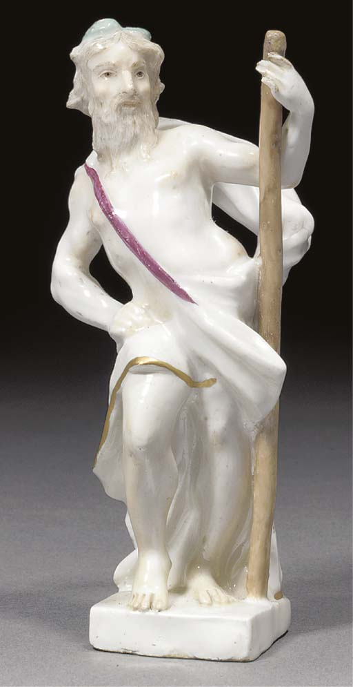 A Meissen figure of a god