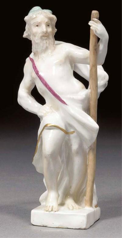 A Meissen figure of a god