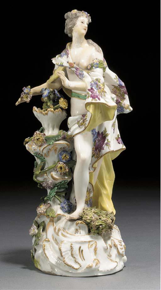 A Meissen allegorical figure