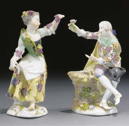 A Meissen figure of a maid and