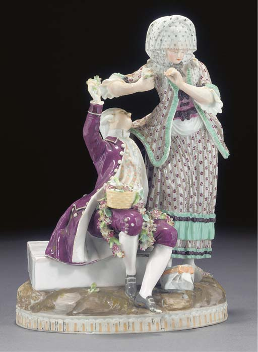 A Meissen (Marcolini) group of