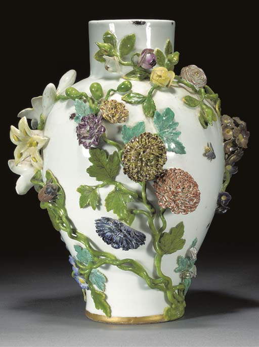 A Meissen baluster vase
