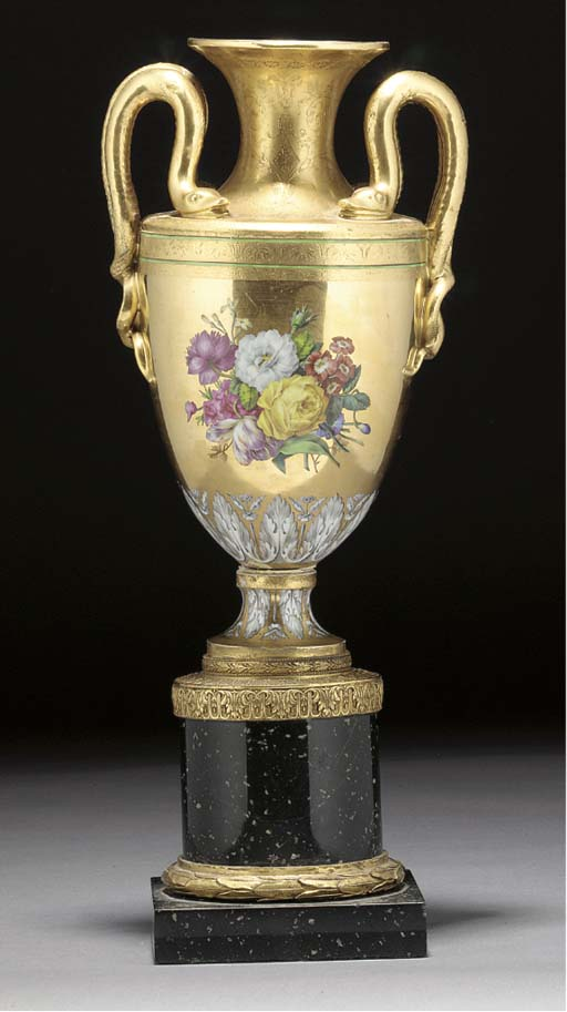 A Continental porcelain gilt-m