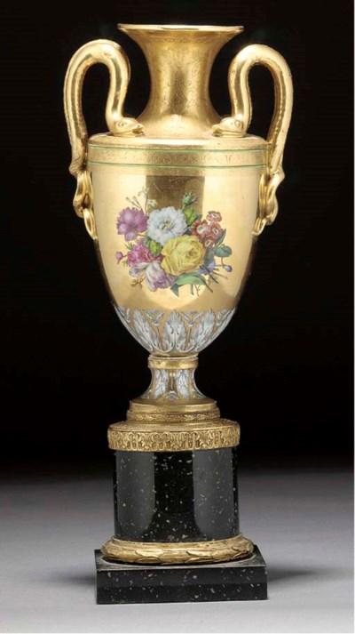 A Continental porcelain gilt-m