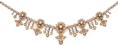 An Edwardian gold, diamond and