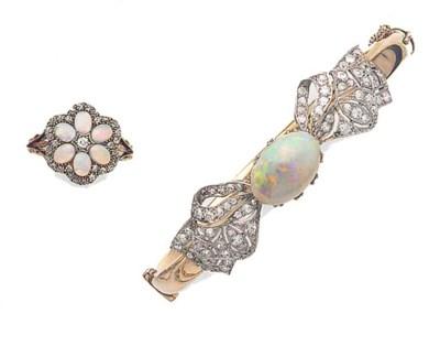 An Edwardian opal and diamond