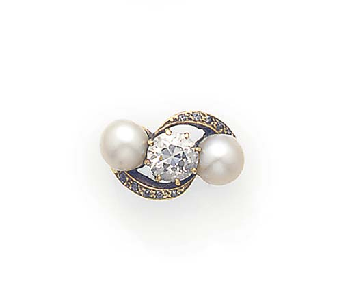 A diamond and untested pearl t