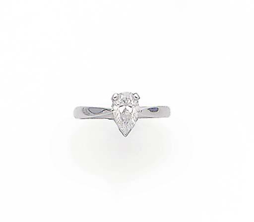 A PEAR SHAPED DIAMOND SINGLE S