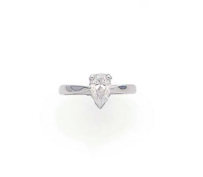 A PEAR SHAPED DIAMOND SINGLE S