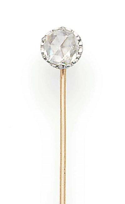 A ROSE-CUT DIAMOND SINGLE STON