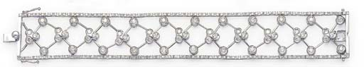 A DIAMOND BROAD TRELLIS BRACEL