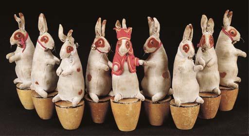 A fine Set of Steiff rabbit sk