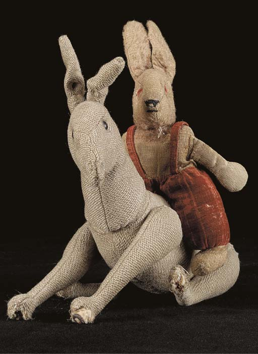 An early Steiff donkey