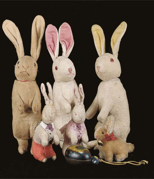 A pair of cotton Easter bunnie
