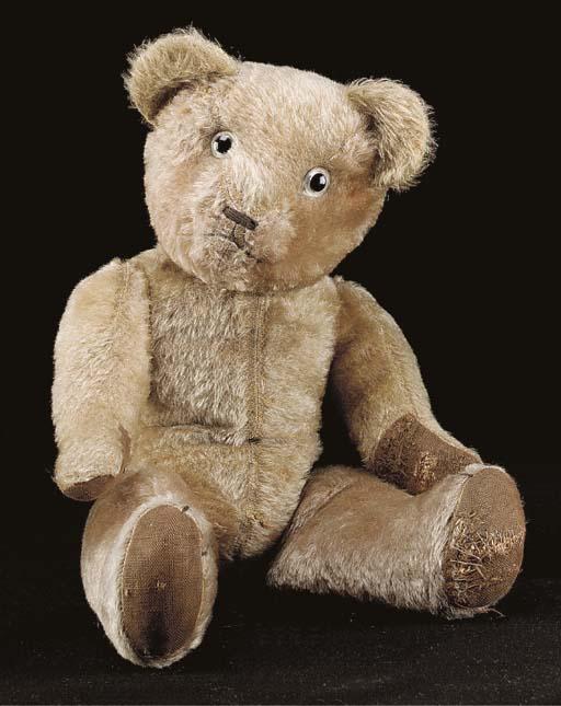 An unusual two-tone teddy bear