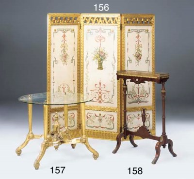 AN EDWARDIAN GILTWOOD THREE-FO