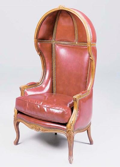 A beechwood porters chair, lat