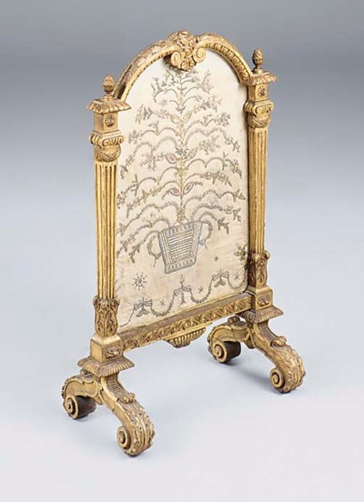 A French carved giltwood and e