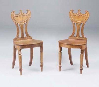 A pair of George IV mahogany h