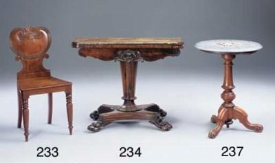 A Regency mahogany hall chair
