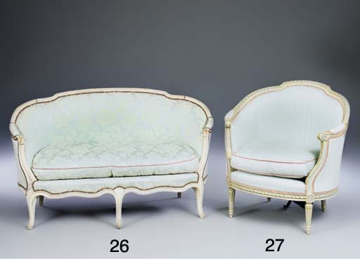A French painted bergere