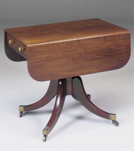 A George III mahogany and ebon