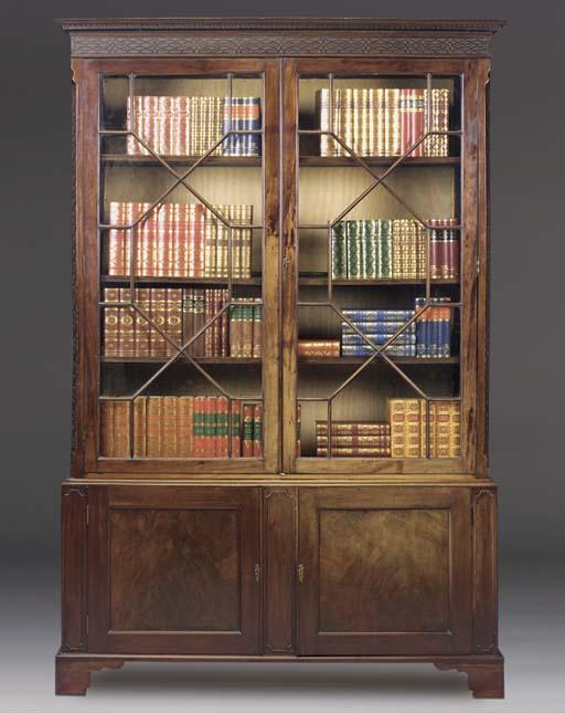 A MAHOGANY DISPLAY BOOKCASE
