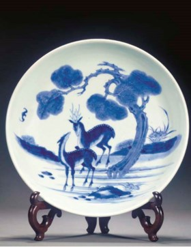 A Chinese blue and white dish  Daoguang