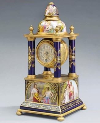 An Austrian gilt-brass mounted