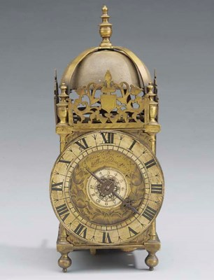An English brass lantern clock
