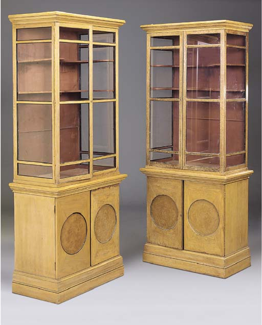 A PAIR OF OAK AND BURR ELM DIS