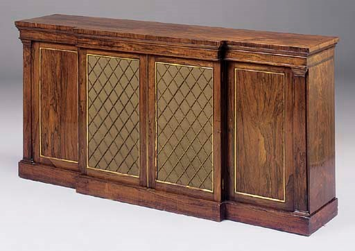 A ROSEWOOD AND PARCEL GILT BRE