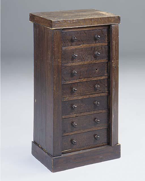 An oak wellington chest,late 1