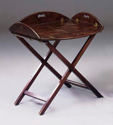 A Victorian mahogany butlers t