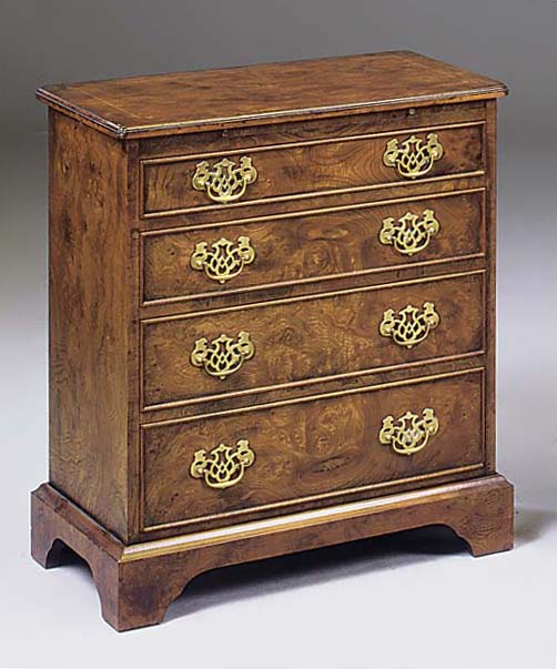 A burr elm batchelors chest of