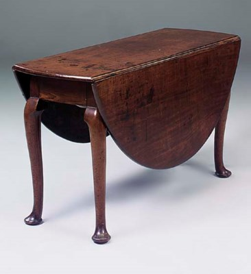 A George III mahogany oval dro