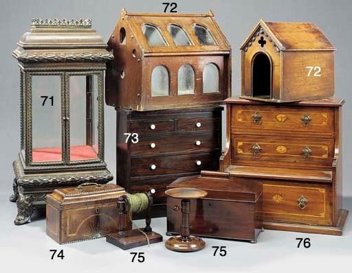A Victorian mahogany and glaze
