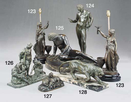 An Italian bronze model of Nar