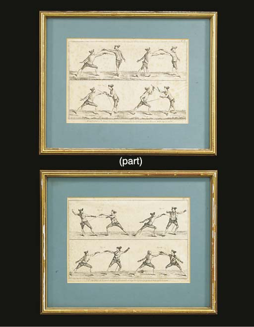 A set of ten French engravings