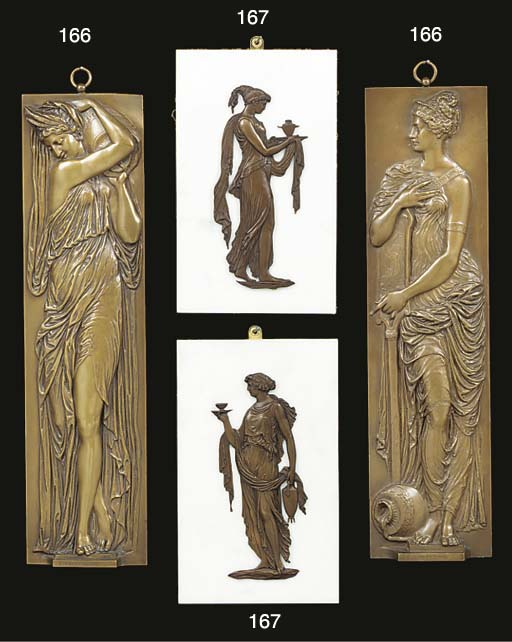 A pair of French bronze wall r