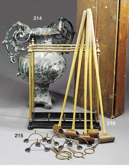A French cast iron urn adapted