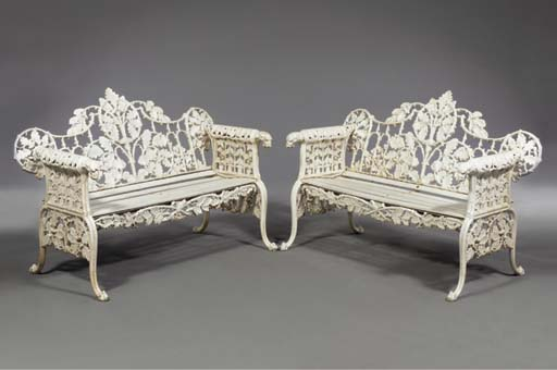 A pair of white painted 'Oak a