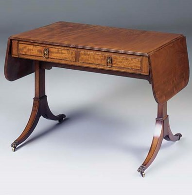 A MAHOGANY SOFA TABLE