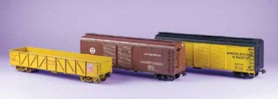 A collection of twin bogie fre