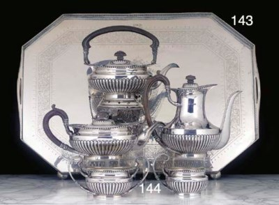 A Five-Piece George V Silver T