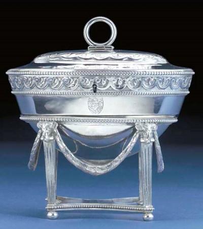 A George III Silver Tea Caddy-