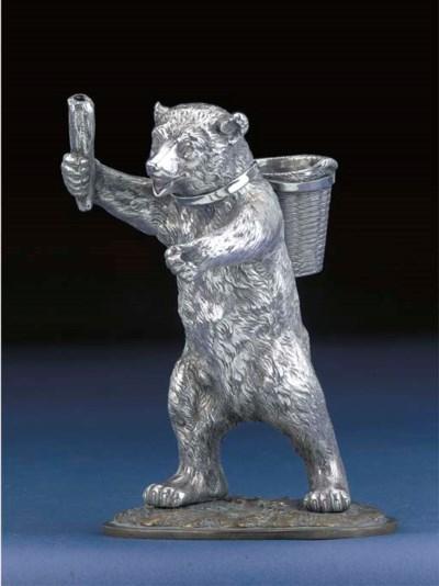A Victorian Silver Novelty Smo