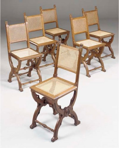 A SET OF SIX FRENCH GOTHIC OAK