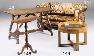 An Italian walnut tripod table